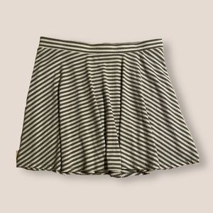 striped ribbed miniskirt